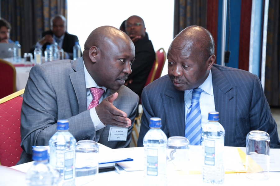 MD & CEO Dr. Ken Tarus exchange notes with @EnergyMinK PS. Eng. Joseph Njoroge during today