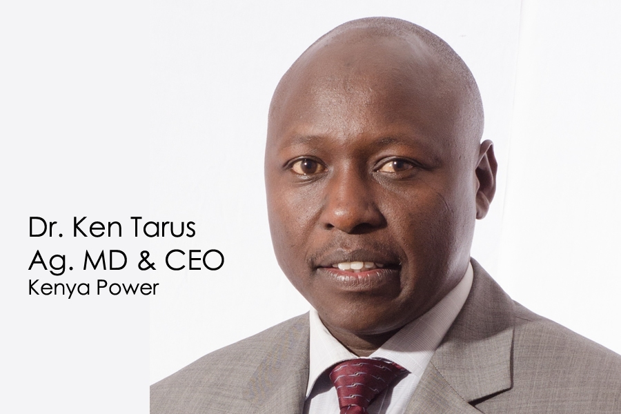 Dr. Ken Tarus  appointed as the Kenya Power Ag. MD & CEO with effect from January 4th, 2017.