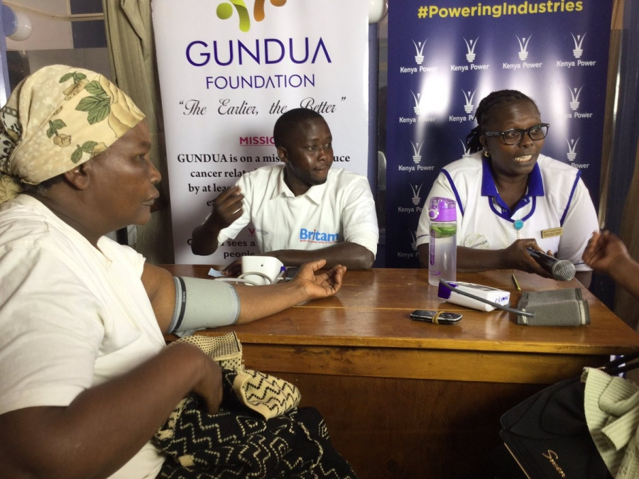 Kenya Power partners with Gundua Foundation in sponsoring a free cancer screening at Gatundu Level 4 hospital.