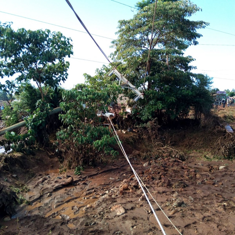 Power lines swept away in Solai, Nakuru County