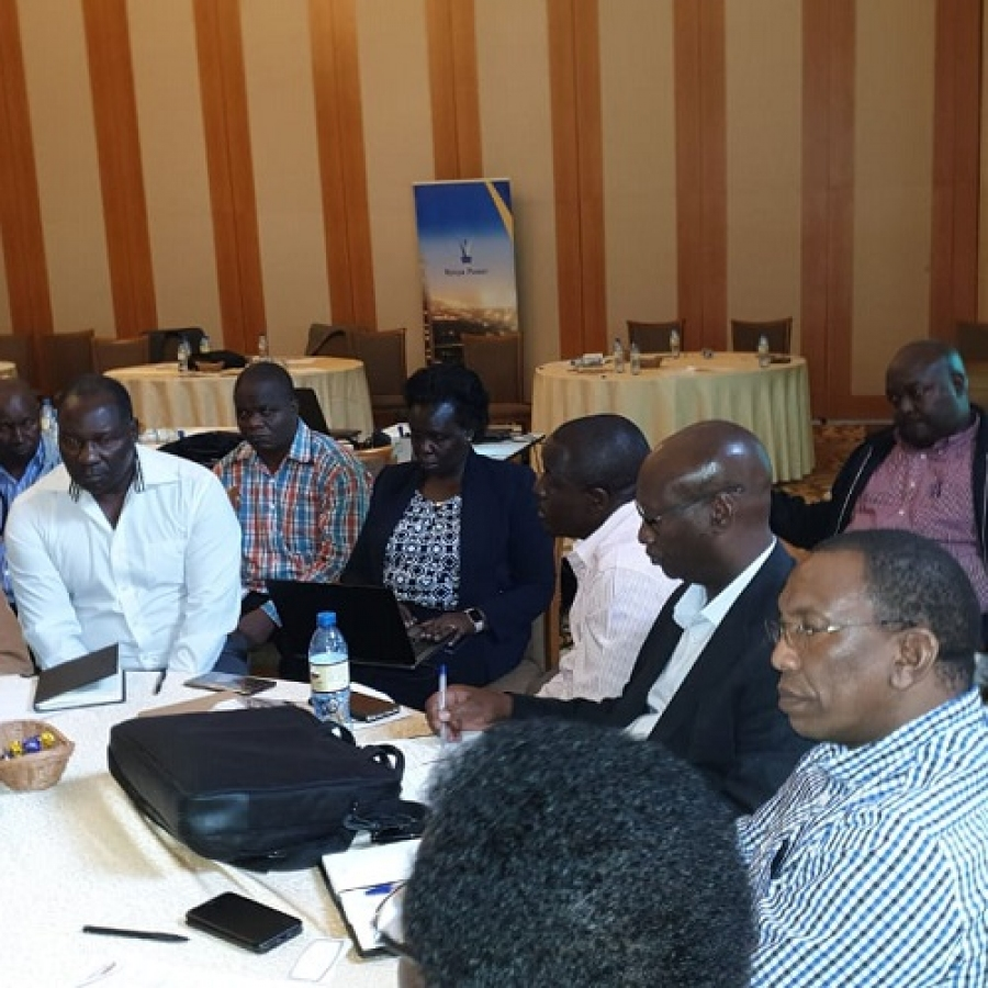 Members of the senior management team at the ongoing strategy meeting in Naivasha.