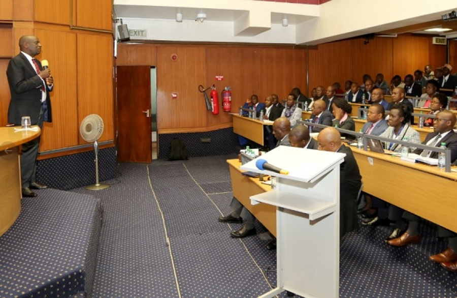Senior Management team attending a connectivity meeting led by Energy CS, Hon. Charles Keter at Stima Plaza Auditorium.