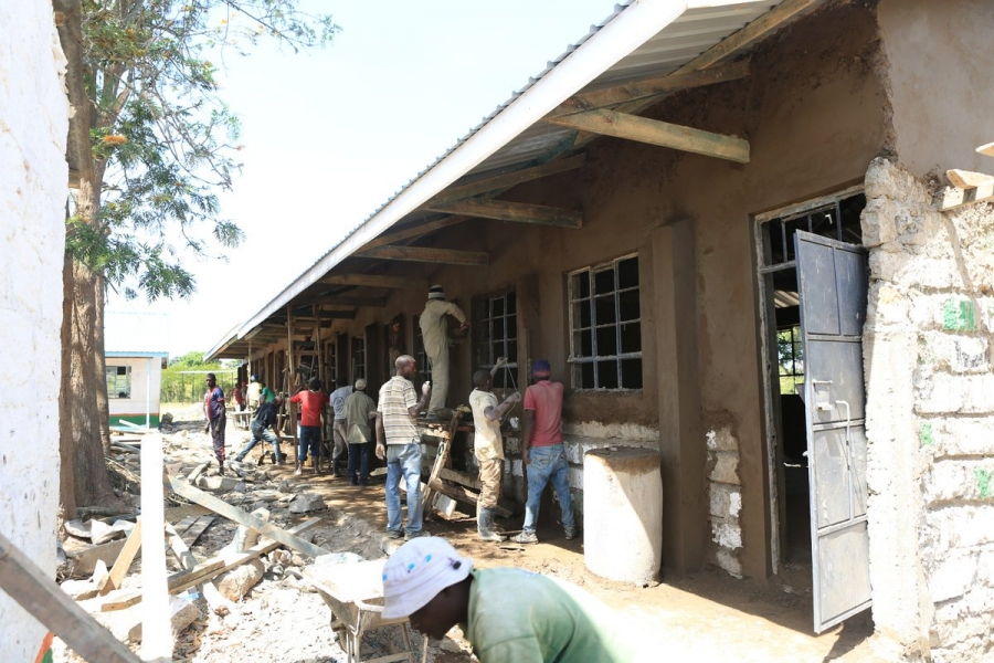 Re-construction of dilapidated #Katulu classrooms