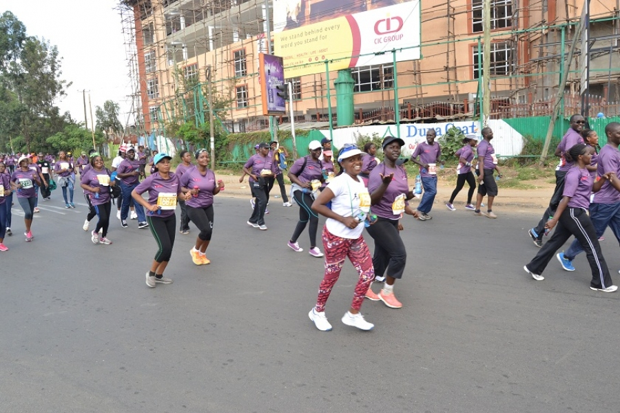 Participants on the move during the beyond zero half marathon