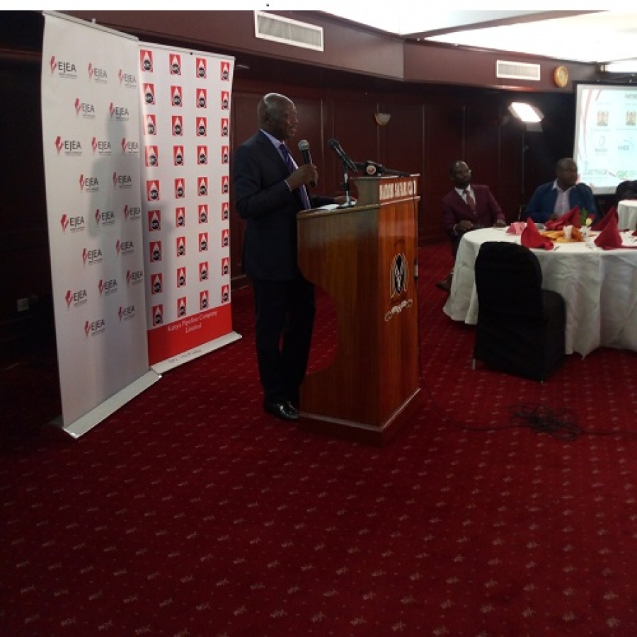 PS, Energy Joseph .K. Njoroge addressing journalists during EJEAIVLAUNCH