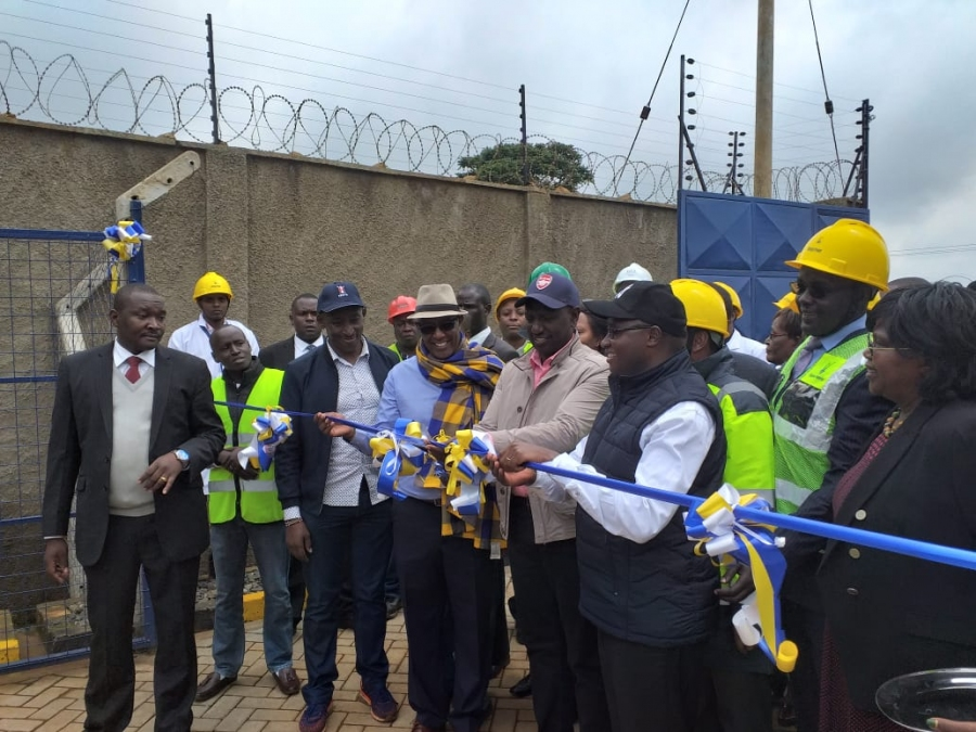 Deputy President H. E. Dr. William S. Ruto officially commissioning Mukurwe-ini substation on 14/06/2019