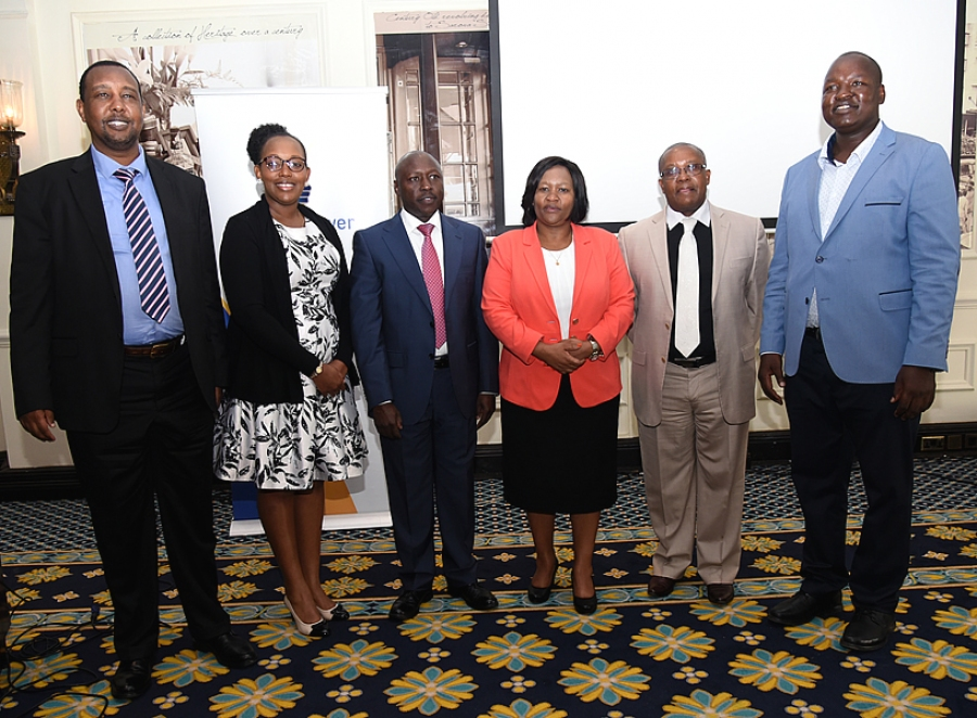 @GDCKenya CEO Eng. Johnson Ole Nchoe and MD and CEO kenya power Ken Tarus and other energy sector managers pose for a group photo. ^KK