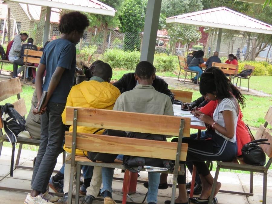 Reading sheds constructed by Kenya Power at Laikipia University as part of Wezesha Jamii.
