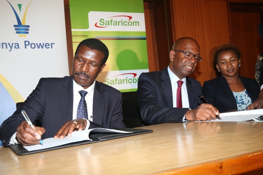Kenya Power and Safaricom sign M.O.U to ensure continuous capacity availability