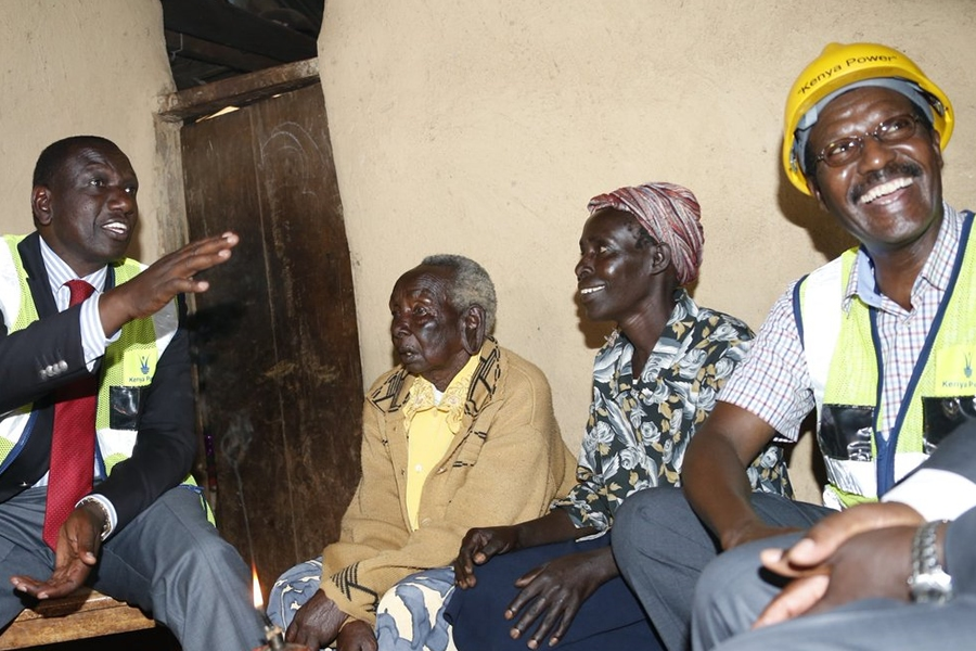 Former MD & CEO, Dr. Ben Chumo with Deputy President Hon. William Ruto at Roda Kogo during a past function.