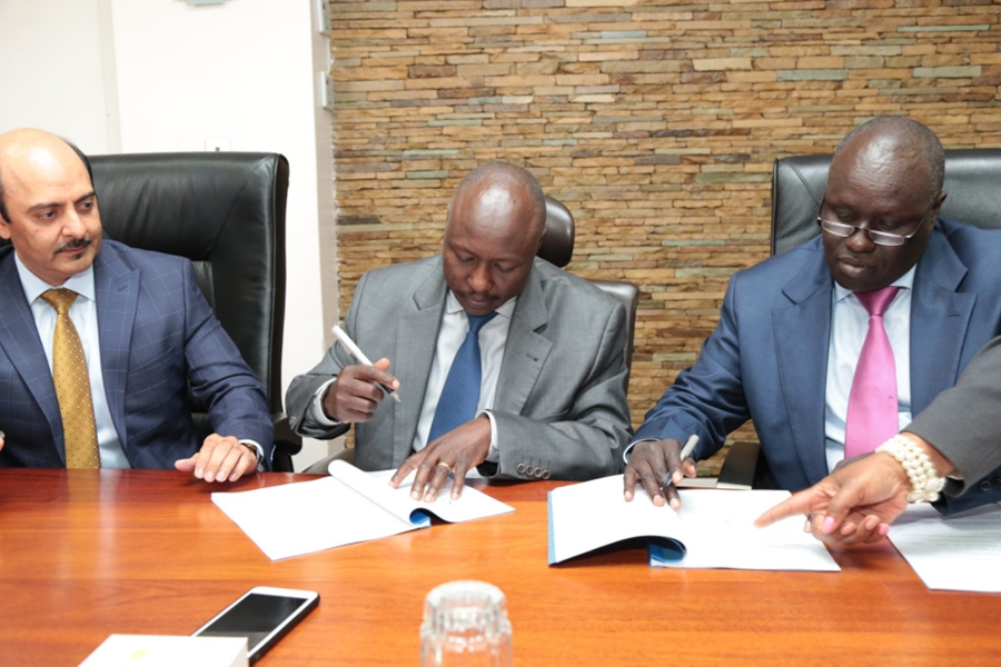 Dr. Ken Tarus signs an additional 40MW solar PPA with Selenkei Investments ltd. Chairman, Dr. David Langat and Director, Ayaz Merali
