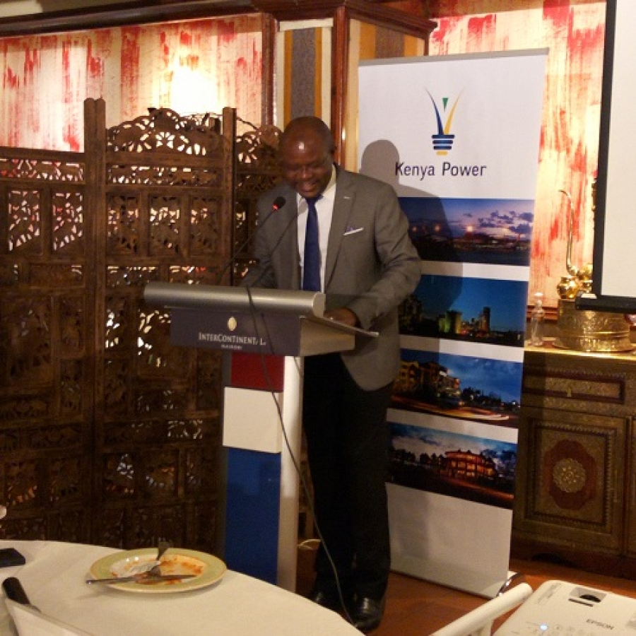Ag.GM Customer Service, Aggrey Machasio making his remarks during the #EmaAwards2019.