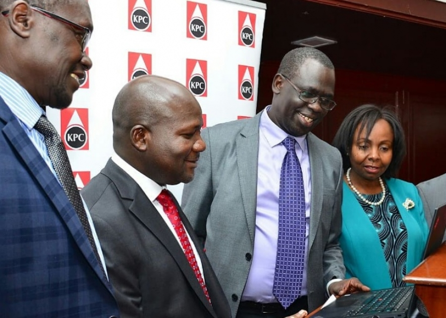 Ag. MD & CEO Eng. Jared Othieno with energy sector stakeholders during the official launch of  #EJEAIV.