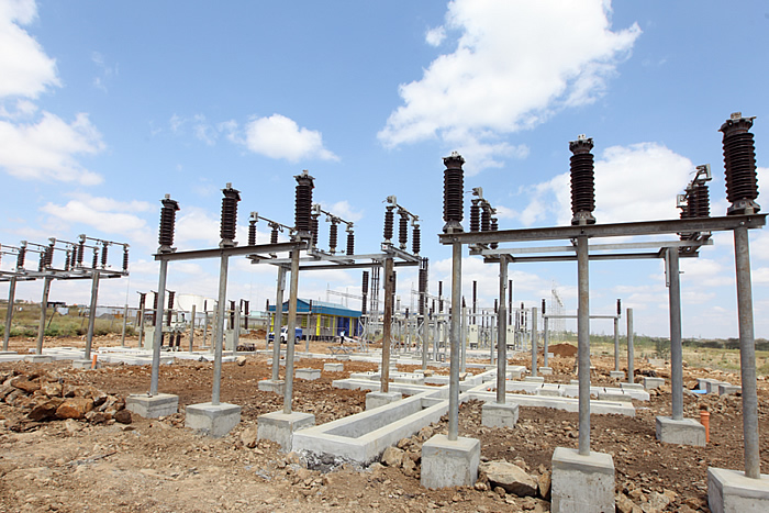 Civil works in progress for the new substation in Bamburi.