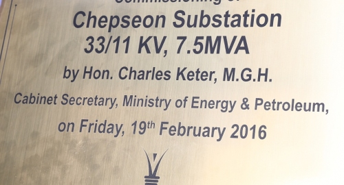 Chepseon Substation Commissioned