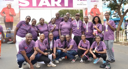 Kenya Power staff who participated in the beyond zero half marathon